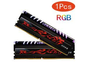 Veritech DDR4 RAM RGB PC4 8GB 16GB 2666mHz 3000mHz 3200mHz 3600mHz 2x Dual-channel Format Dimm Ram 288pin for Gaming Desktop(1PCS 8GB)