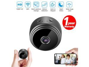 Mini Hidden Camera Surveillance Camera  With Battery 1080P with Magnet 150 View Angle SD Card Recording Motion Detection For Phone  Nanny Cam Baby Cam Versatile Wifi Dash Cam Rear View Camera Dog Cam