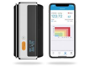 Wellue Blood Pressure Monitor + EKG, Upper Arm Cuff BP Machine, EKG Monitor, Normal Heart Rhythm in 30 Seconds, Built-in Bluetooth with Free App for iOS & Android