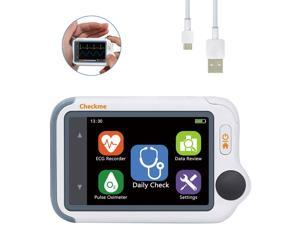 Viatom Handheld ECG/EKG Monitor, Personal Heart Rate Monitor Device with PC Software & Wireless Mobile iOS and Android APP, Detect Oxygen Level, Tachycardia, Bradycardia and Arrhythmia
