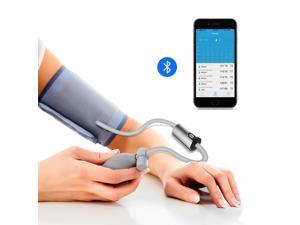 Wellue Portable Blood Pressure Monitor AirBP Upper Arm Large Cuff with Smart APP, Multi-Users, BP Monitor FDA Approved, Medical Accurate, Manual BP Meter for Home Use/Professional Use