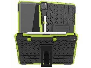 Removable TPU Shell Case for iPad Pro 11 2021 A2377 with Pencil Holder Back Kickstand Tablet Case for iPad Pro 11 2020 A2228 Green