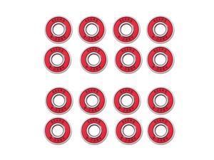 Lot 16 Frictionless Abec 9 Skateboard Roller Skate Bearings Red