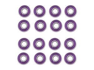 Lot 16 Frictionless Abec 9 Skateboard Roller Skate Bearings Purple