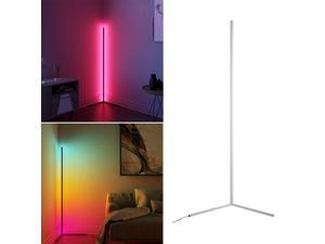 Remote Control RGB LED Floor Lamp Bedroom Corner Lamp Standing Pole Light