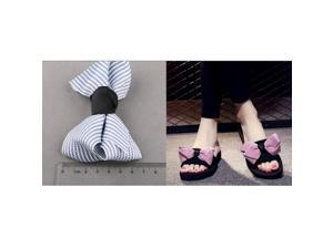 Cloth Bowknot DIY Craft Kids Headwear Slipper Accessories  Meters Apricot