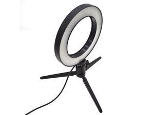 """6"""" LED Ring Fill Light with USB Plug 5500K Dimmable Lighting Kit for Makeup"""