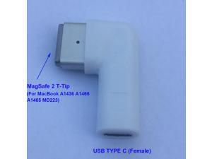 USB C Type C Female to Magsafe 2 T-Tip Power Adapter Converter for Apple MacBook A1436 A1466 A1465 MD223