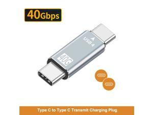 USB Type C 4.0 Adapter 40Gbps USB-C Data Sync Adapter Type-C Male to Male Plug Converter Extension Cable for Macbook Laptop Tablet Phone