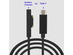 Tech 15V Surface Connect to USB-C Cable Charges for Microsoft Surface Pro 7 6 5 4 3