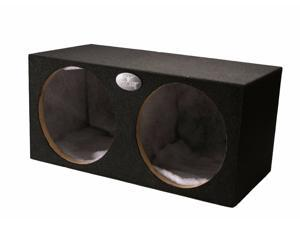 "ABSOLUTE Dual 12"" Sealed MDF Subwoofer/Sub Enclosure Empty Box (2.48 Cubic Feet)"