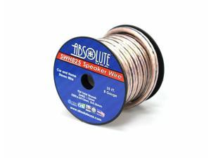 Absolute USA SWH825 8 Gauge Car Home Audio Speaker Wire Cable Spool 25'