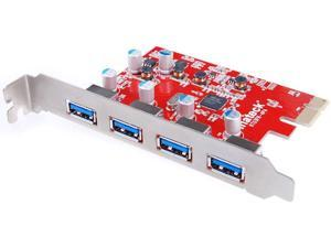 Inateck 4 Ports PCI-E to USB 3.0 Express Card Compatible Mac Pro (Early 2008 to 2012 Late Version) KT4004