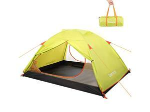 Tomons 2-3 Person Dome Camping Tent, Double Door, Easy to Set Up, Anti-UV Lightweight Water Resistant Backpacking Tent for Outdoors, Hiking, Climbing, Riding and Travel