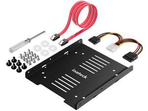 Inateck SSD Mounting Bracket 2.5 to 3.5 Adapter with SATA Cable and Power Splitter Cable, SA04002