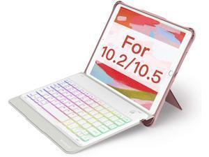 Inateck Keyboard Case for iPad 10.2 Inch  2020(8. Gen)/2019(7. Gen), iPad Air 2019(3. Gen), iPad Pro 10.5, with Kickstand, Detachable, US Layout, KB02015