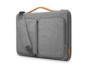 Inateck 15 Inch Laptop Sleeve 360° Protective Splash-Resistant Two-Way Carrying Handheld Shoulder Laptop Bag Compatible with Most 15.6 - 16 Inch Laptops