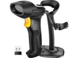 Barcode Scanner, Wireless Scanner, 2600mAh Battery, 35M Range, Goose Neck Hands Free Adjustable Stand,Bundle Product BCST-60 Black and BCST-S