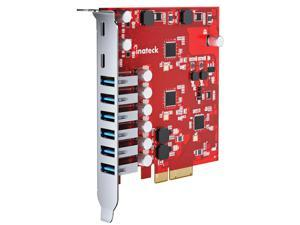 Inateck PCIe to USB 3.2 Gen 2 Expansion Card with 20 Gbps Bandwidth, 6 USB Type-A and 2 USB Type-C Ports, RedComets U22
