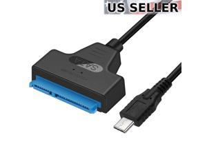 "USB 3.1 Type C to SATA III HDD SSD 2.5"" Hard Drive Adapter Cable 22-Pin UASP"