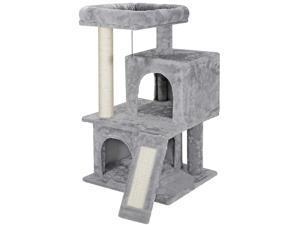 Cat Tree Condo Tower Scratcher Climbing Furniture w/Scratching PostToys