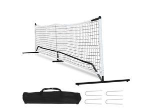 22FT Deluxe Portable Pickleball Set W/4 Stakes  Carry Bag Kids Volleyball