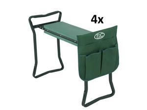 Kneeler Garden 4X Foldable Kneeling Bench Stool Soft Cushion Seat Pad Tool Pouch