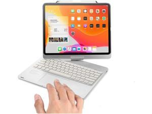 Touchpad Keyboard Case for iPad Pro 12.9 2021 5th Generation / iPad Pro 12.9 2020 4th Gen / iPad Pro 12.9 2018 3rd Gen with Folio Smart 360° Rotatable Stand, Support Apple Pencil Charging