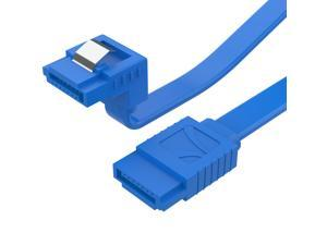 Sabrent SATA III (6 Gbit/s) Right Angle Data Cable with Locking Latch for HDD / SSD / CD and DVD drives (3 Pack - 20-Inch) in Blue (CB-SRB3)