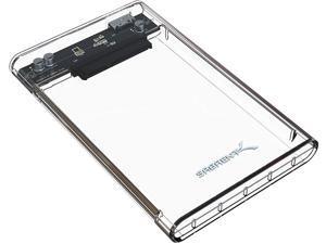 Sabrent 2.5-Inch SATA to USB 3.0 Tool-free CLEAR External Hard Drive Enclosure (EC-OCUB)