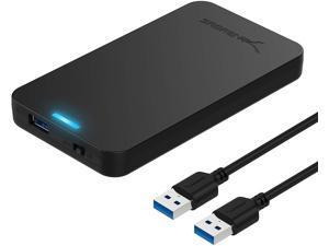 """Sabrent USB 3.0 to 2.5"""" SATA III SSD External Hard Drive Enclosure, Black (EC-UASP)"""