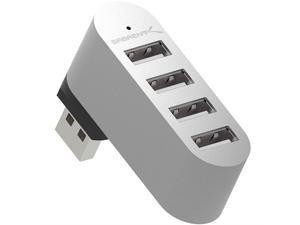 Sabrent Premium 4 Port Aluminum Mini USB 2.0 Hub [90°/180° Degree Rotatable] (HB-UMMC)