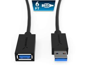 Sabrent 22Awg Usb 3.0 Extension Cable - A-Male To A-Female [Black] 6 Feet