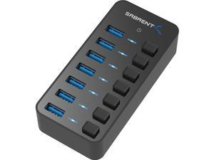 Sabrent 36W 7-Port USB 3.0 Hub with Individual Power Switches and LEDs (HB-BUP7)