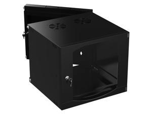 Sabrent 9U IT Wall Mount Rack Enclosure 19 Inch black Server Cabinet With Locking Glass Door - Fully Assembled (CT-DSWL)