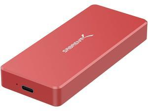 Sabrent USB Type-C Aluminum Enclosure for M.2 NVMe SSD in RED (EC-NVME-RED)