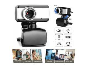 60 Degrees Rotatable 2.0 HD Webcam 480p USB Camera+Mic Video Recording Web Camera With Microphone For PC Laptop Desktop Tablet