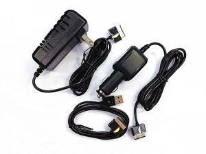 Car charger+AC Adapter power supply+usb Sync Data Cable for Asus Eee Pad Transformer TF300 TF201 TF101 SL101