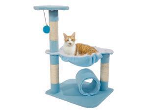 """28"""" Cat Tree Condo Play Scratcher Furniture Kitten Pet House Scratcher Pink/Blue"""
