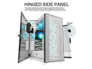 DLX21 MESH EATX Full Tower Gaming Computer PC Case Door Opening Panel