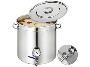 53 QT Stainless Steel Stock Pot Kitchen Home Brew Soup Stew Sauce Brew Kettle