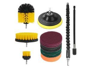 13Pcs Drill Brush Set with Extend Attachment Power Scrubber Brush Cleaning Kit