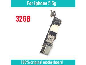 with IOS System for iphone 5 5G Motherboard,32gb  unlocked for iphone 5 Logic boards with Full Chips,Good