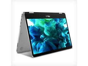 "ASUS VivoBook Flip 14 Thin and Light 2-in-1 Laptop, 14"" HD Touchscreen, Intel Celeron N4020 Processor, 4GB DDR4, 64GB Storage, Windows 10 Home in S Mode, Light Grey, TPM, Fingerprint, J401MA-DB02"