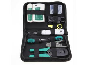 RJ45 RJ11 Ethernet Cable Hand Crimper Network Tester Tool Punch Down Impact Kit