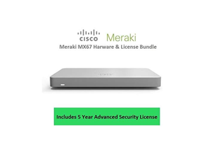 Cisco Meraki MX67 Router Security Appliance Includes 5 Year Security License