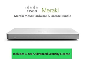 Cisco Meraki MX68 Router Security Appliance Includes 3 Year Security License