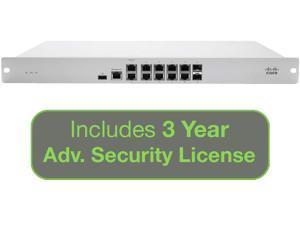 Cisco Meraki Cloud Managed Security FD MX84-HW with 3 Year Adv. Security License