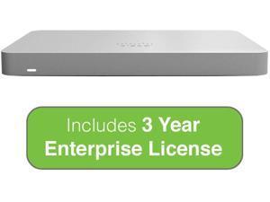 Cisco Meraki MX67 Small Branch Security Appliance with 3 Year Enterprise License