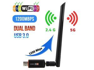 1200Mbps Dual Band Wireless Desktop USB 3.0 WiFi Adapter Antennas Networks Card~